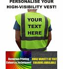 Mens Custom High Visibility Vest Jacket Personalise Design Your Own Text Clothes