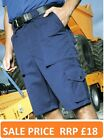 Premier Mens Work Shorts Cargo Pants SALE MUST CLEAR Black or Navy Waist 30-44""