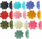Gorgeous Resin Flat Back Flower With Petals Cabochon 23mm, 10 Pieces