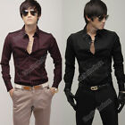 2012 Fashion Stylish Men Casual Slim Fit Dress Shirts 2 color Top New Great Hot