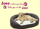 DOGS ANIMAL GRAPHICS QUOTE SAYING STENCIL KITCHEN WALL PET DECAL STICKER VINYL