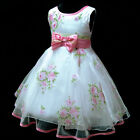 SIXGBP573 Pinks Christmas Party Flower Girls Dresses SIZE AGE 2,3,4,5,6,7,8,9 Y