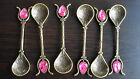 Vintage Design Copper Turkish Spoons and Saucers/Plates,Serving Coffee,Tea,Sugar