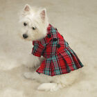 East Side Collection Pleated Plaid Jumper Dog Dress CLEARANCE! LIMITED SIZES!