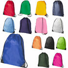 10 x Premium School Drawstring Book Bag Sport Gymsac Swim PE Backpack 16 Cols