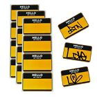"""100 """"Hello My Tag Is"""" Name Is TATS CRU NY Stickers (16.5cm x 10cm)"""