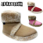 New Coolers Kids Boys Girls Fur Furry Ankle Boots Slippers Shoe Sizes UK 10-2