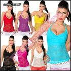 Sexy Ladies Lace Halterneck Top Women's Casual Summer Lace Top Size 6,8,10 UK