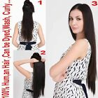 """Long Straight One Piece 85g  5 Clip-on Human Hair Extensions 16"""" 20"""" Many Color"""