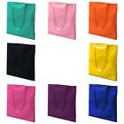 COLOURFUL ~COTTON SHOULDER TOTE BAG SHOPPING BAGS Lots of COLOURS