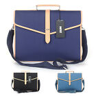 unihood NWT Mens Jacquard Faux Leather Briefcases Tote Shoulder Messenger Bags