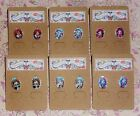 Monster High Glass Character Earrings - Frankie Stein, Draculaura, Clawdeen Wolf