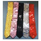 1920S 20'S ADULT LONG SEQUIN TIE BLACK PINK RED GOLD SILVER CLOWN COSTUME TIES