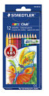 Staedtler Noris Club Coloured Pencils Packs of 12 INDIVIDUAL Colours, 12 colours