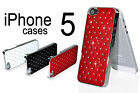 Plastic Skin Case for the New iPhone 5 Cover with Diamonds and Plating Frame