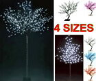 64 144 200 600 LED Blossom Bonsai Tree Lights 45 65 150 250cm Outdoor White Blue