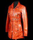 Vanessa Red Waxed Ladies Retro Vintage Real Soft Sheep Washed Leather Jacket