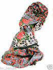 BRAND NEW LADIES ROSES AND POPPIES DESIGN DOUBLE SIDED LADIES FASHION SCARF