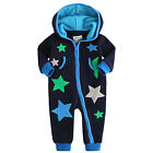 "NWT Vaenait Baby Unisex Newborn Fleece Hoodie Jumpsuit Onepiece""In the Universe"""