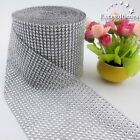 "4.6"" 15 Colors Wedding Diamond Mesh Wrap Roll Sparkle Rhinestone Looking Ribbon"