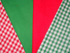 Polycotton Fat quarter Bundles Gingham & plain £4 a set Craft~ Patchwork
