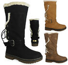 NEW WOMENS LADIES LACE UP MID CALF BUCKLE SOCK GRIP SOLE WINTER RAIN BOOT SIZE