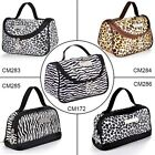 Fraulein3°8 Leopard Zebra Pattern Cosmetic Make up Travel Package Case Pouch