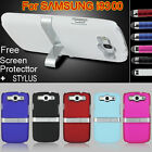 HARD CHROME STAND CASE COVER For SAMSUNG GALAXY S3 i9300 FREE FILM & STYLUS