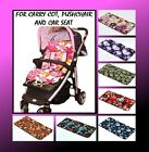 BABY PRAM CARRY COT PUSHCHAIR STROLLER CAR SEAT MATTRESS 21 COLOURS