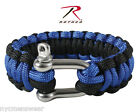 Royal and Black Paracord Bracelets With D-Shackle Closure     Style# 912