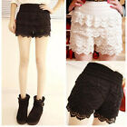 Korean Style Women Lace Tiered Skirts Sweet Cute Shorts Pants P100