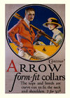 Fashion Man Lady Oar Shirt Arrow Form Fit Collars Vint Poster Repro FREE SH