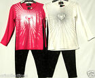 BN.GIRLS*RADIANT LOVE HEART*LONG SLEEVE TOP & LUREX RIBBED LEGGINGS**SET (multi)