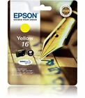 Epson 16 Original Yellow Ink Cartridge (Pen and Crossword) C13T16244010 / T1624