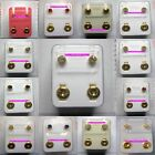 STERILE Earrings 24ct GOLD Plated STUD Earrings in Assorted designs & Shapes