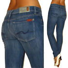 New 7 For All Mankind Roxanne Skinny 24 25 Jeans Classic Rise Vintage Heritage