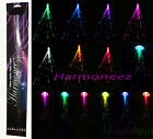 """TWO 20"""" LED FIBER OPTIC CLIP ON COLORED HAIR LIGHT LIGHTS UP BARRETTE EXTENSIONS"""