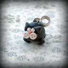 Black Cat, bracelet Charm, fits Any Euro Bracelet Funky Cute Kitsch