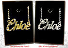NAME NECKLACE 18ct Gold Plated Chloe Claire Ella Ellie Emily Emma Neclace Plate