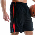 MEN CASUAL SPORTS RUNNING GYM FITNESS SHORTS WITH STRIPES SIZE S-XXL / 2 COLOURS