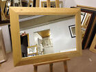 NEW LARGE 93mm SHAPED SOLID OAK FRAMED OVERMANTLE WALL MIRRORS