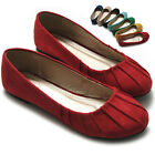 ollio Womens Ballet Flats Loafers Comfort Faux-Suede Multi Colored Casual Shoes