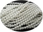 Czech Round Glass Imitation loose Pearls, White nacre pearl color