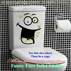 Smiley Face Toilet Sticker Wall Decal Mural Art Decor Funny Bathroom Gift Car 2