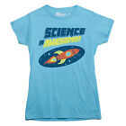 SCIENCE IS AWESOME t-shirt retro rocket space ship nerd shirt LADIES SIZE S-XXL