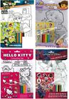 Colouring Set Characters Themed Stickers Kids Childrens Creative Activity Set