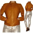 $895 Motorcycle Bomber Biker EXTRA-Soft Caramel Tan Lamb Leather Jacket M,L NWT