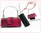 Luxury Pet Hygiene- Dog Pooper Purse with Refill Bags Leash Accessory Pink Rasp