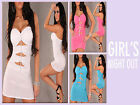 Womens  Sexy Clubwear Mini Dress Wrapped Chest With G String 2PC Set
