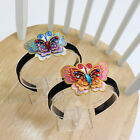 Girls Korean Traditional Pink Blue Butterfly Headband Aliceband Hair Accessories